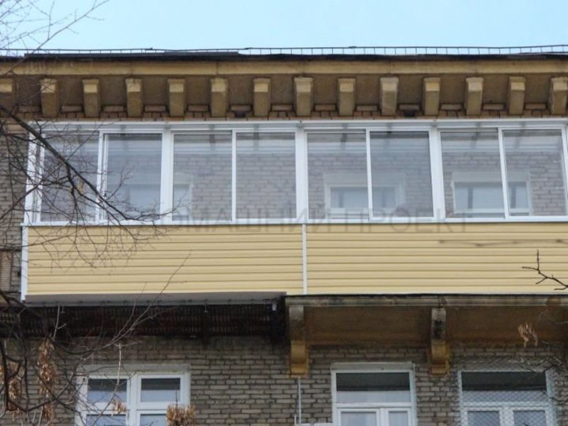 Остекление балкона алюминием в сталинском доме. балконы в ст.