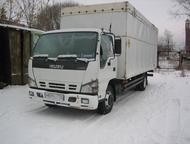 isuzu nqr75r продам грузовой автомобиль isuzu nqr75r, фургон. , дизель, 5тонн, 2008 г. в. , руль-левый, цвет белый, верх тентованный съемный, объем 30, Златоуст - Фургон