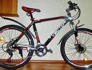Челябинск: Абсолютно новый велосипед с алюм, рамой, диск Vector 870 Alum DISK 26  - Материал рамы: Алюминий 19 дюймов (есть на 17 синий), вес велосипеда 13 кг;