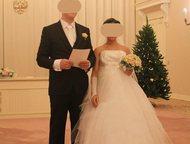 Продам свадебное платье Свадебное платье 42-46, рост 165, Выходила замуж в 8 месяцев беременности, корсет утягивается, подойдет и невестам в положении, Гатчина - Свадебные платья