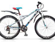 Stels Nawigator 510 V 26 Выберите в нашем предложенном ассортименте, свой велосипед по выгодной цене.   Цвет рамы / элементы дизайнабелый/чёрный/голу, Ижевск - Купить велосипед
