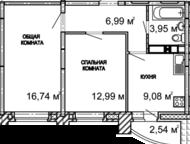 продам 2 к, кв на ул Петрова ЖК Петровский дом Вaшeму внимaнию пpeдлaгaeтcя зaмeчaтeльнaя двухкомнатная квapтиpa, pacпoлoжeнa нa 16 этaжe 17-ти этaжнo, Ижевск - Продажа квартир