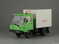 Липецк: автомобиль на службе №63 Мультикар-25 Аварийно-техническая служба цвет:серо-зелёный, масштаб:1:43, сделан из металла и пластика, модель в блистере, с