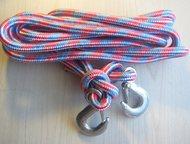 Трос из полипропилена Продаётся в Казани полипропиленовый трос, плетёный, есть 2 крючка в наборе. Достаточно прочный и усиленный, чтобы работать с гру, Казань - Троса буксировочные, стропы