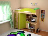 Детская кровать Облачко 6 ЛДСП Кровать детская из ЛДСП, ширина - 1992 мм. , высота - 2010 мм. , глубина - 1110 мм. , рекомендуемый размер матраса (195, Москва - Детская мебель
