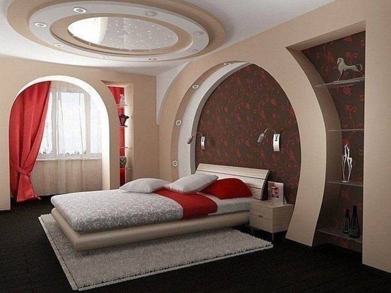 Потолки для спальни с лоджией.