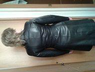 женский кожаный плащ продам женский, стильный, кожаный плащ, черного цвета. Кожа очень хорошая, мягкая. Отрезной в талии, с поясом. Размер 46-48. Длин, Нижнекамск - Женская одежда