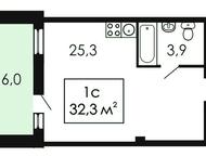 Однокомнатная квартира Новая студия 32 кв. м. в Екатеринбурге. Большая остекленная лоджия. Безопасная детская площадка и спортивный корт. Подземный па, Нижневартовск - Продажа квартир