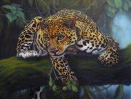 картина гепард продам картину на холсте, маслом, в раме, 60*80 см., Нижний Новгород - Коллекционирование