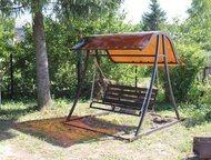 Новомосковск: Качели садовые разборные с козырьком их цветного поликарбоната Садовые, разборные качели с козырьком из цветного поликарбоната 6мм (цвет по желанию)