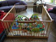 Не стандартный большой детский деревянный манеж 1,5х1,5м с калиткой для двойни Большой детский деревянный манеж 1, 5х1, 5м с калиткой (20730 руб)  Ман, Краснодар - Детская мебель