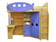 Уголок школьника Юнга голубой (кровать-чердак) Детский уголок Юнга позволяет свободно приспосабливать пространство детской комнаты к быстро меняющимся, Пермь - Детская мебель