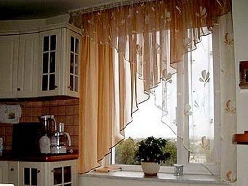 Как сшить шторы на кухню короткие
