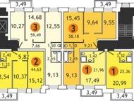 Тюмень: Продам 3 комнатную квартиру 60 м2 Продам 3 комнатную квартиру 60 м2 в новом кирпичном доме, качественная черновая под маяк, железная дверь, пластиковы