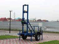 Буровая установка Akvabur-b6 прицеп КМЗ (колеса и ступицы УАЗ) Буровая установка предназначена для бурения вертикальных скважин глубиной до 70 м и диа, Тольятти - Буровая установка