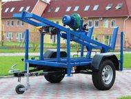 Буровая установка Akvabur-b6e Прицеп КМЗ (колеса и ступицы УАЗ) Буровая установка предназначена для бурения вертикальных скважин глубиной до 70 м и ди, Тольятти - Буровая установка