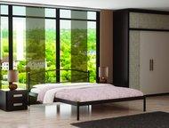 Кровать Аура в Златоусте Кровать Аура  Габаритные размеры: +5 см к ширине, +4 см к длине спального места.   Высота изголовья: 750 мм  Высота ножек: 33, Златоуст - Мебель для спальни